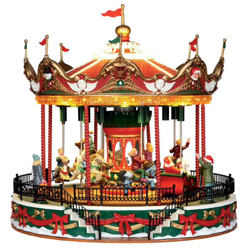 Lemax Santa Carousel Sights Amp Sounds Table Piece 34682