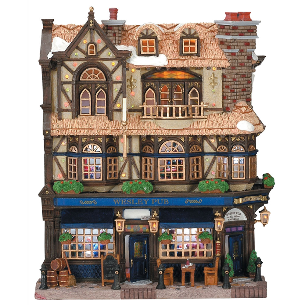 Lemax Wesley Pub Lighted Facade 45099 Bosworths