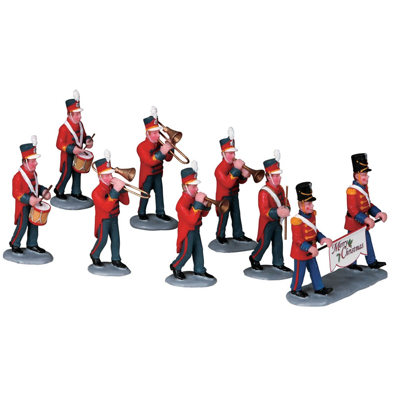 Lemax Christmas Parade Marching Band Table Accent Set Of