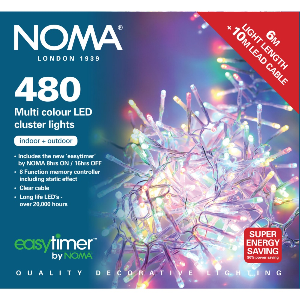 Noma Led Shop Light Review: Noma® Multi-Effect Cluster Lights 480 Multi Colour LEDs