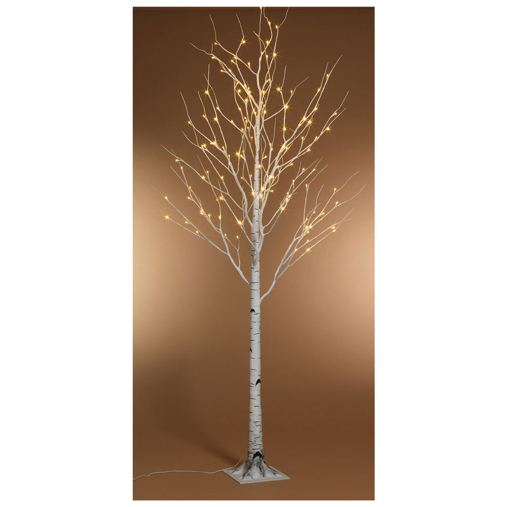 Kaemingk Pre-Lit Paper Birch Christmas Tree 6ft (1.8m) Warm White ...