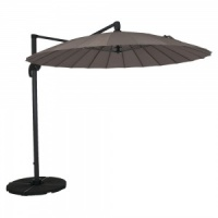Norfolk Leisure Geisha 2.7m Round Cantilever Parasol Taupe/Anthracite Frame