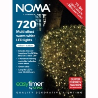 Noma® 720 LED Multi-Effect Lights Warm White/Green Cable (8772GWW)