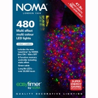 Noma® 480 Multi Colour Multi Effect LED Lights - Green Cable (8748GM)