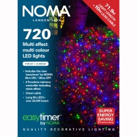 Noma® 720 Multi Colour Multi Effect LED Lights - Green Cable (8772GM)