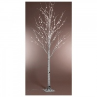 Kaemingk Pre-Lit Paper Birch Christmas Tree 8ft (2.4m) Cool White (499178)