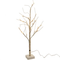 Kaemingk Pre-Lit Paper Birch Christmas Tree 4ft (1.2m) Warm White (499181)