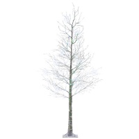 Kaemingk Pre-Lit Snowed Christmas Tree 6ft (1.8m) Brown/Cool White (499332)