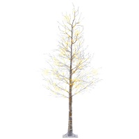 Kaemingk Pre-Lit Snowed Christmas Tree 6ft (1.8m) Brown/Warm White (499335)