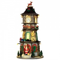 Lemax Christmas Clock Tower - Sights & Sounds Table Piece (45735)