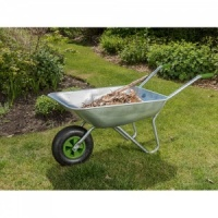 Crest Garden Galvanised Wheelbarrow 65 litre capacity