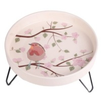 Petface Ceramic Bird Bath - Robin Design