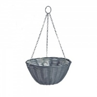 Gardman Rattan Effect Dark Grey Hanging Basket 35cm (02892)