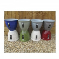 Ceramic Effect Feather Lightweight Plant Pots - Assorted Designs