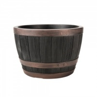 Stewart Garden Half Barrel 40cm Planter - Copper Painted Rim