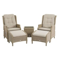 Bramblecrest Oakridge Dual Recliners & Footstools Suite Incl. Coffee Table