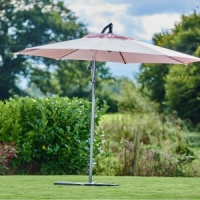 Supremo Riviera Free Arm Round Parasol 3m - Candy Floss