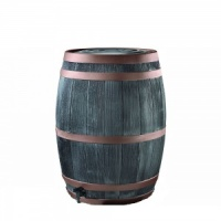 Stewart Oak Barrel Copper Ring Effect Water Butt 190ltr