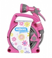 Hozelock Seasons Pico Reel and Spray Gun Set - PINK - 2425