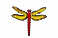 Vintage Solar Dragonfly - Yellow/Red