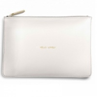 Katie Loxton 'Hello Lovely' Clutch Bag - Chalky White (KLB035)