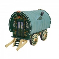 Miniature World® Green Gypsy Caravan (MW01-011)