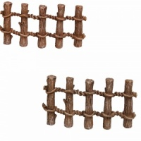 Miniature World® Wooden Post Fence Twin Pack (MW03-023)