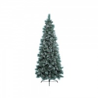 Kaemingk Everlands Frosted Norwich Pine 7ft (2.1m) Christmas Tree (689302)