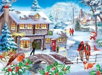 Winter Walk 500 Piece Jigsaw Puzzle