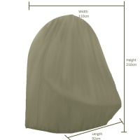 Bramblecrest Single Cocoon Chair Cover (Khaki)