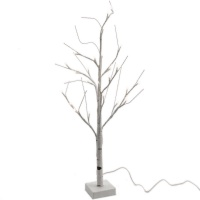 Kaemingk Pre-Lit Paper Birch Christmas Tree 4ft (1.2m) Cool White (499176)