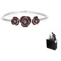 Espree 'Remember Me' Crystal Poppy Bangle