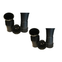 10.5cm Black Plastic Pots Set of 40