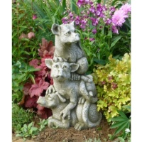 Pheeberts Stone Garden Statue -  The Look Out Team (PGS054)