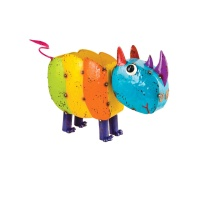 Fountasia Rihanna The Rhino Metal Garden Planter