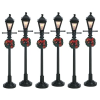 Lemax Gas Lantern Street Lamp - Accessory Set of 6 (64499)