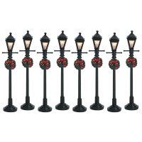 Lemax Gas Lantern Street Lamp - Accessory Set of 8 (64500)