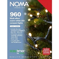 Noma 960 Compact LED Lights Warm White - Green Cable