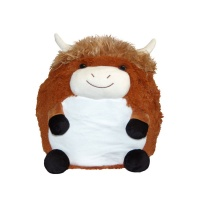 Cozy Time Highland Cow Giant Hand Warmer & Comforter