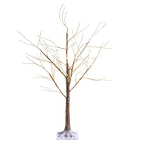 Kaemingk Pre-Lit Brown Tree 6ft (1.8m) Warm White Micro LED (541079)