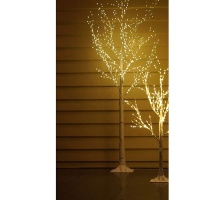 Kaemingk Pre-Lit Paper Birch Tree 6ft (1.8m) Warm White Micro LED (541082)