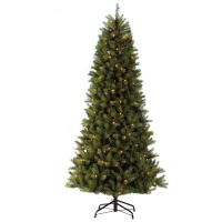 Puleo Slim Kensington Fir 6.5ft (1.95m) Pre-Lit Artificial Christmas Tree