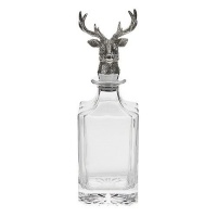 Orchid Designs Glass Decanter Stag Head