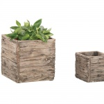 Woodlodge Driftwood Square Pot 25cm