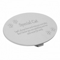 W & Co Thoughts Of You Memorial Plaque Cat