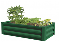 Panacea Metal Raised Garden Planter Liner Forest Green