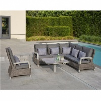 Norfolk Leisure LIFE Aloha Corner Set Lava  / Yacht Grey
