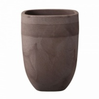 Stewart Aztec Tall Planter 45cm - Dark Brown
