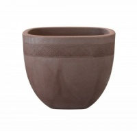 Stewart Aztec Low Planter 46cm - Dark Brown