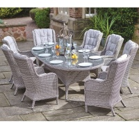 Supremo Basilio Oval 8 Seat Dining Set